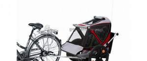 B-Taxi: carrellino da bici per 2 bambini da trasporto