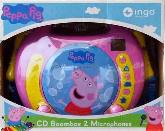 Peppa pig lettore cd con 2 microfoni prezzo canta tu for Canta tu prezzo toys