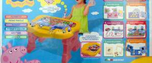 Peppa Pig Tavolino Attivo Lisciani: giochi educativi, penna elettronica e scrivania