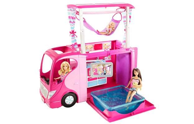 camper barbie mattel v6981 e x8410 2 in 1 bambole