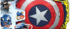 Capitan America Scudo Elettronico Lancia Dardi + Elmetto