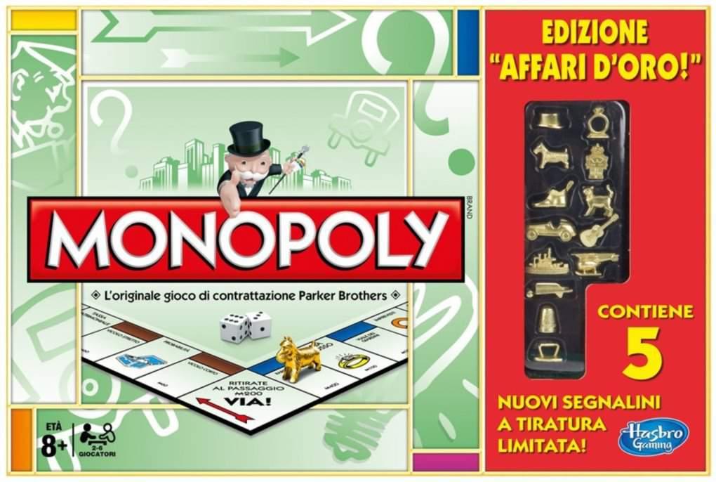 Monopoly Edizione Limitata con le pedine in oro (Affari d'Oro)
