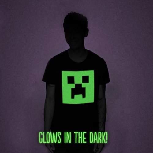 minecraft maglietta fluorescente