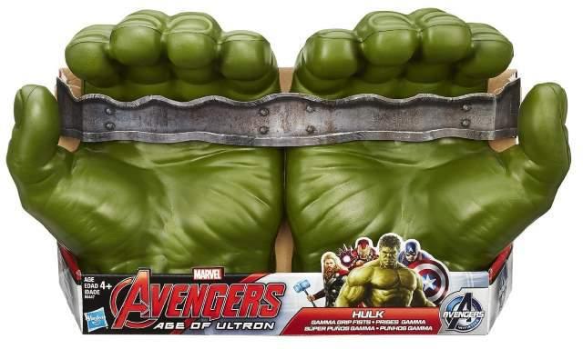 Avengers Age Of Ultron: Hulk Pugni di Gomma, lancia dischi, portachiavi e action figures