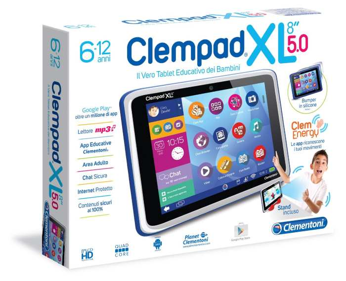 Clempad XL 8 5.0 Tablet Android 5.0.2 Lollipop Clementoni