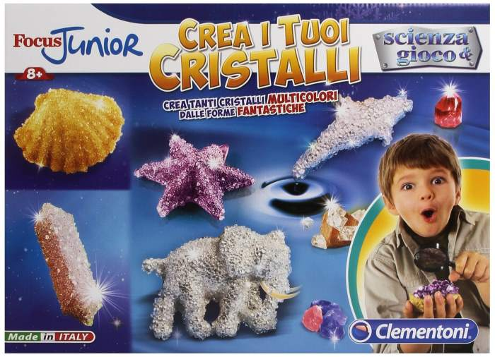 crea i tuoi cristalli scienza gioco clementoni focus