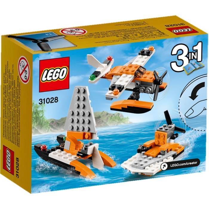 Idrovolante Lego Creator 3 in 1 che si trasforma in catamarano e barca da palude