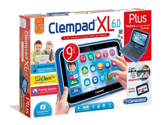 Clempad XL 6.0 PLUS Tastiera Custodia e Cuffie Clementoni