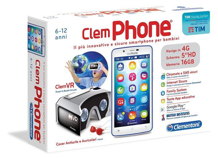 ClemPHONE 6.0 Smarthphone per Bambini Clementoni