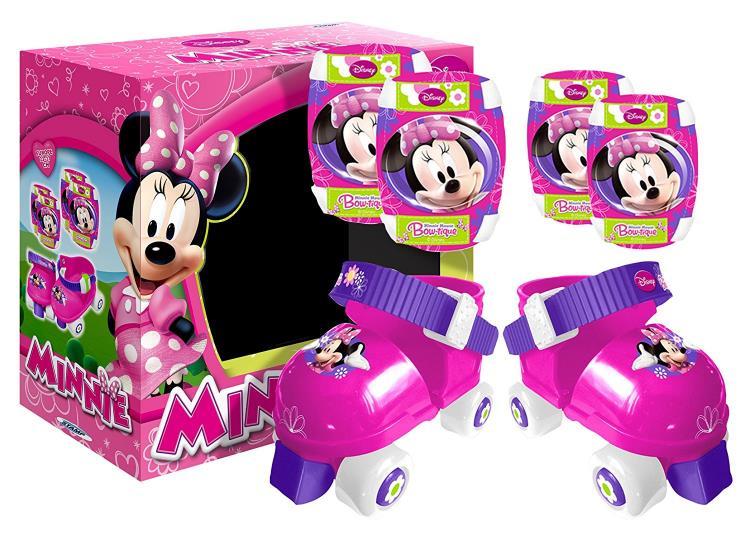 """STAMP J100035 – Set Pattini a rotelle + Cavigliere e ginocchiere """"Minnie"""""""