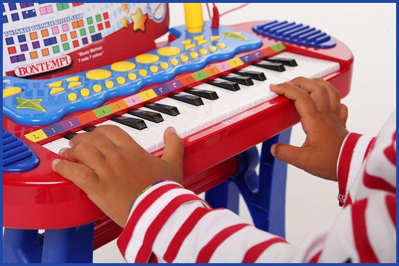 Bontempi 13 3240 – Tastiera 31 tasti con gambe, sgabello e microfono
